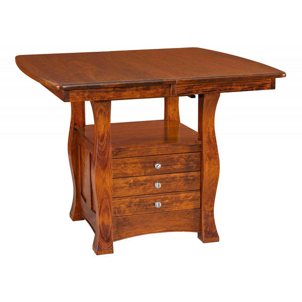 Amish USA Made Handcrafted Reno Cabinet Table - Pub Table sold by Online Amish Furniture LLC