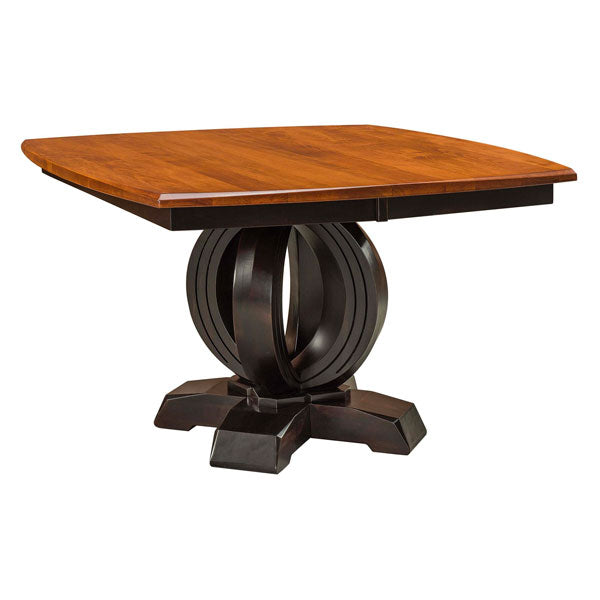 Amish USA Made Handcrafted Saratoga Single Pedestal Table sold by Online Amish Furniture LLC