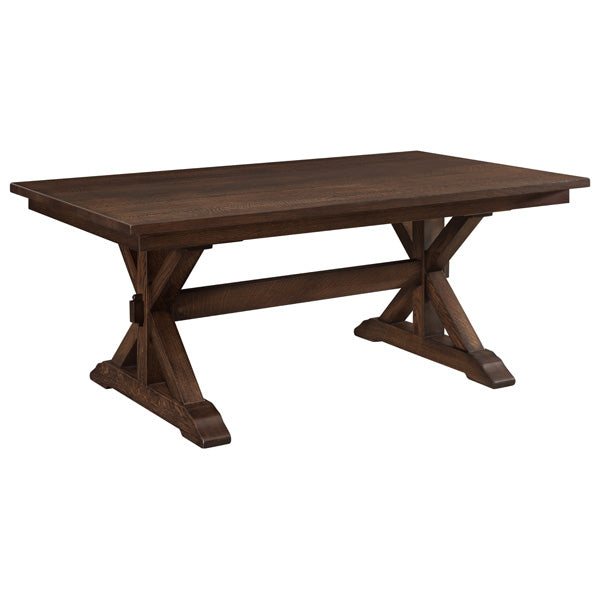 Amish USA Made Handcrafted Sawyer Trestle Table sold by Online Amish Furniture LLC