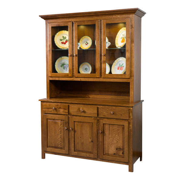 Amish USA Made Handcrafted Shaker Hutch sold by Online Amish Furniture LLC