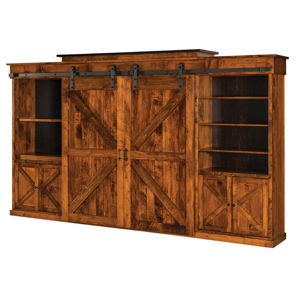 Amish USA Made Handcrafted Teton Wall Unit sold by Online Amish Furniture LLC