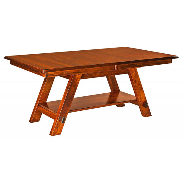 Amish USA Made Handcrafted Timber Ridge Trestle Table sold by Online Amish Furniture LLC