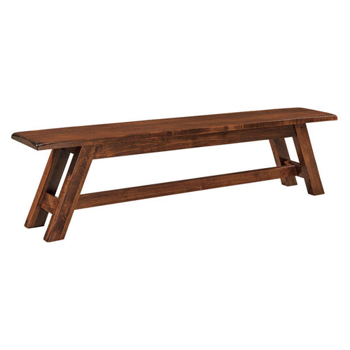 Amish USA Made Handcrafted Timber Ridge Bench sold by Online Amish Furniture LLC