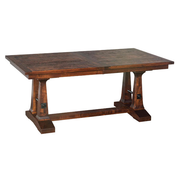 Amish USA Made Handcrafted Vienna Trestle Table sold by Online Amish Furniture LLC