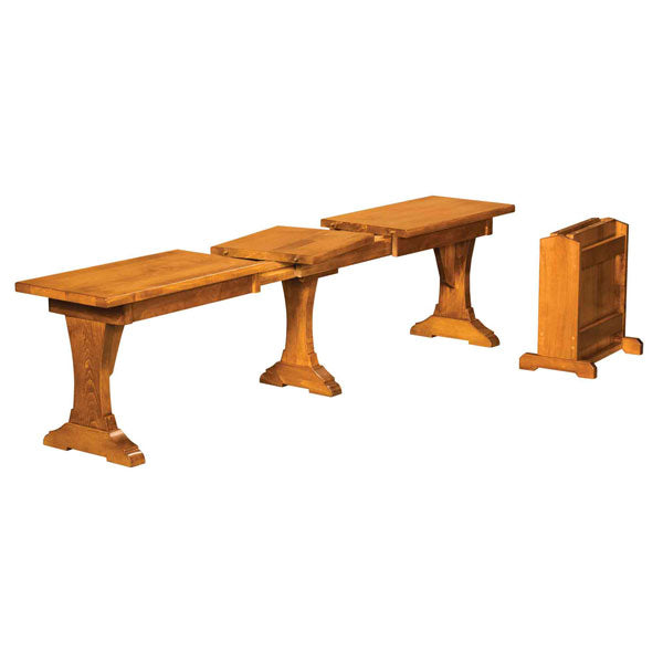 Amish USA Made Handcrafted Wasilla Extenda Bench sold by Online Amish Furniture LLC