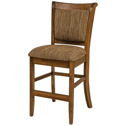 Amish USA Made Handcrafted Adair Bar Stool sold by Online Amish Furniture LLC