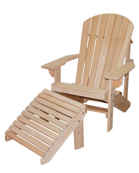 Amish USA Made Handcrafted Cypress Adirondack Footrest sold by Online Amish Furniture LLC
