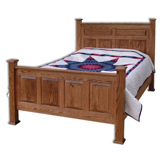 Amish USA Made Handcrafted Country Deluxe Bed sold by Online Amish Furniture LLC
