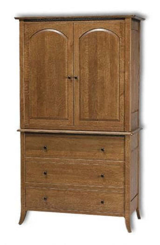 Amish USA Made Handcrafted Bunker Hill Armoire sold by Online Amish Furniture LLC