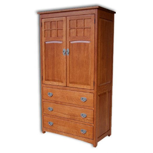 Amish USA Made Handcrafted Royal Sante Fe Mission Armoire sold by Online Amish Furniture LLC