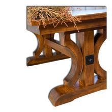 Load image into Gallery viewer, Amish USA Made Handcrafted Barstow Trestle Table sold by Online Amish Furniture LLC