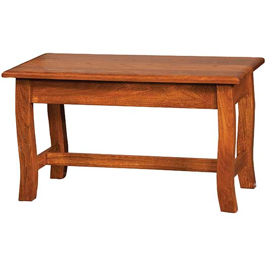 Amish USA Made Handcrafted Batavia Bedside Bench sold by Online Amish Furniture LLC
