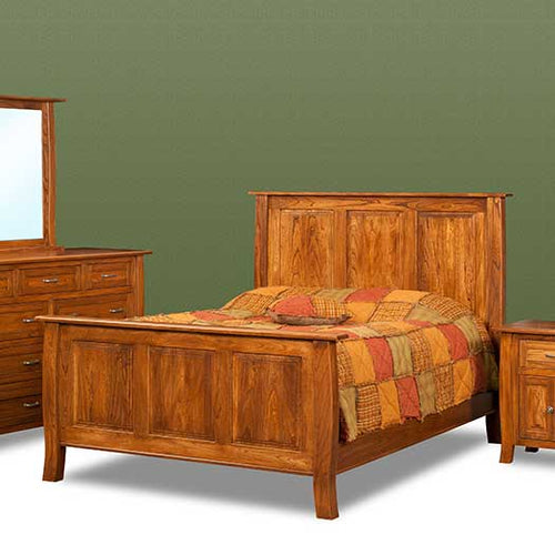Amish USA Made Handcrafted Batavia Bed sold by Online Amish Furniture LLC