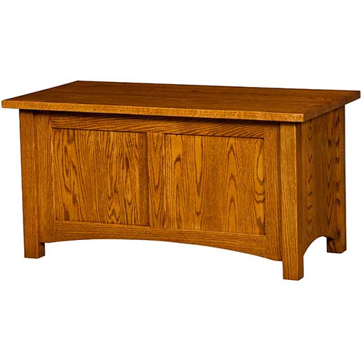 Amish USA Made Handcrafted Classic Misson Cedar Chest sold by Online Amish Furniture LLC