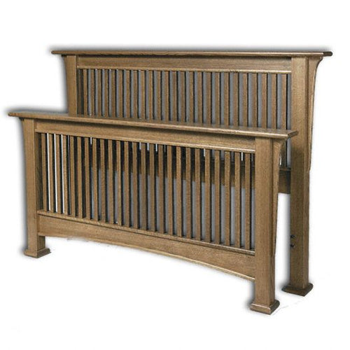 Amish USA Made Handcrafted Millcreek Mission Bed sold by Online Amish Furniture LLC