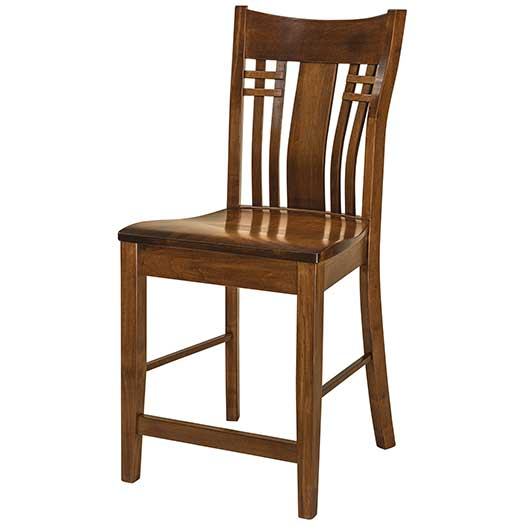 Amish USA Made Handcrafted Bennett Bar Stool sold by Online Amish Furniture LLC
