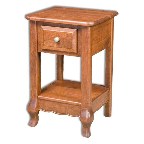 Amish USA Made Handcrafted French Country 1-Drawer Nightstand sold by Online Amish Furniture LLC
