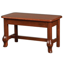 Load image into Gallery viewer, Amish USA Made Handcrafted French Country Bedside Bench sold by Online Amish Furniture LLC