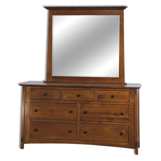 Amish USA Made Handcrafted McCoy 7 Drawer Dresser sold by Online Amish Furniture LLC