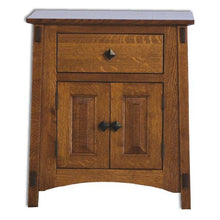 Load image into Gallery viewer, Amish USA Made Handcrafted McCoy 1 Drawer 2 Door Nightstand sold by Online Amish Furniture LLC