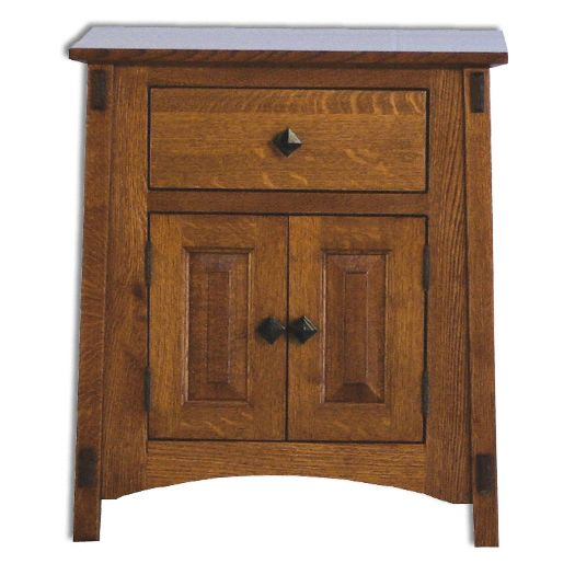 Amish USA Made Handcrafted McCoy 1 Drawer 2 Door Nightstand sold by Online Amish Furniture LLC