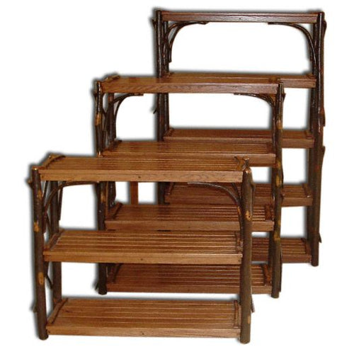 Amish USA Made Handcrafted Rustic Hickory Book Shelves sold by Online Amish Furniture LLC