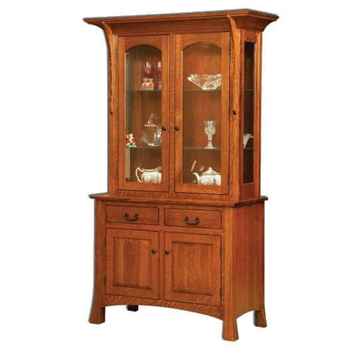 Amish USA Made Handcrafted Breckenridge Hutch sold by Online Amish Furniture LLC