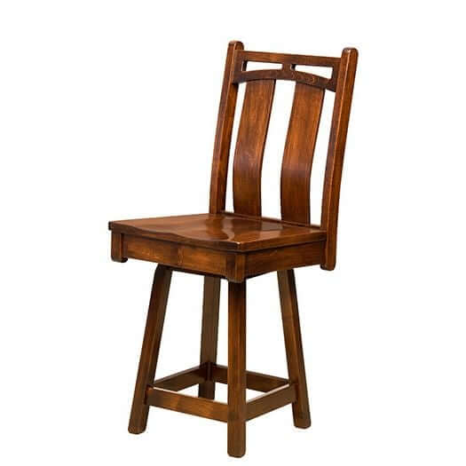 Amish USA Made Handcrafted Bridgeport Bar Stool sold by Online Amish Furniture LLC