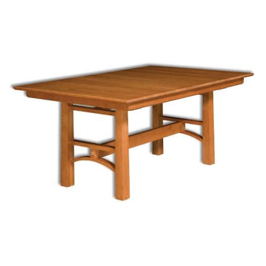 Amish USA Made Handcrafted Bridgeport Trestle Table - Pub Table sold by Online Amish Furniture LLC