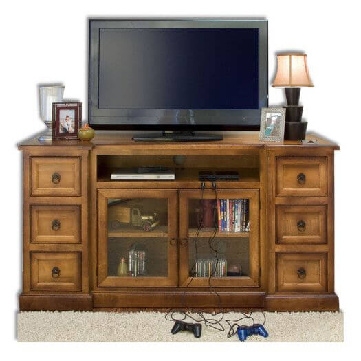 Amish USA Made Handcrafted Bridgeport Plasma LCD Stand sold by Online Amish Furniture LLC