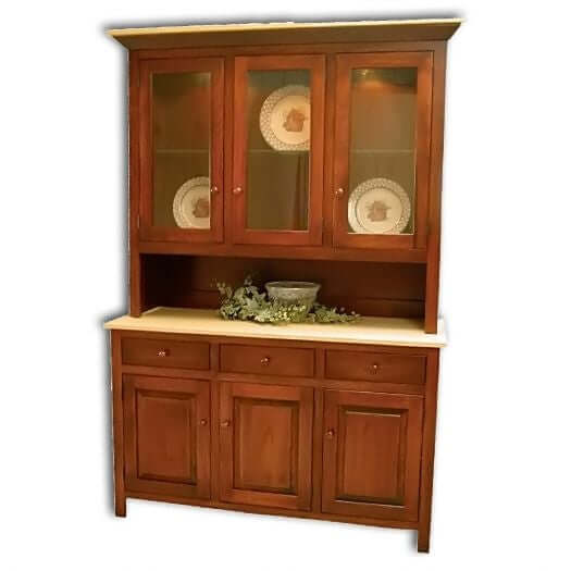 Amish USA Made Handcrafted Brookline Hutch sold by Online Amish Furniture LLC