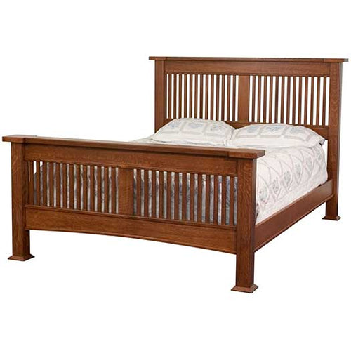 Amish USA Made Handcrafted Brooklyn Slatted Bed sold by Online Amish Furniture LLC