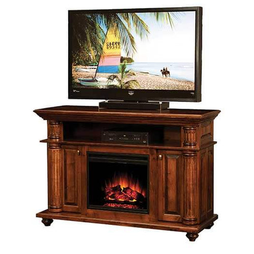 Amish USA Made Handcrafted Bryant Fireplace Entertainment Center sold by Online Amish Furniture LLC