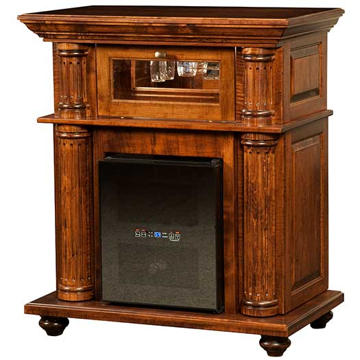 Amish USA Made Handcrafted Bryant Wine Cabinet sold by Online Amish Furniture LLC