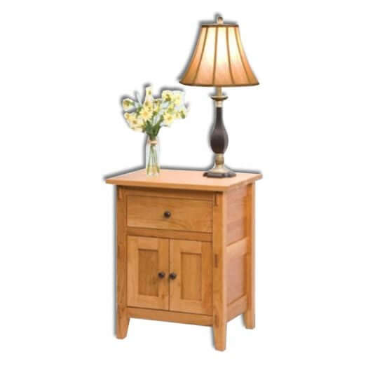 Amish USA Made Handcrafted Bungalow 1 Drawer 2 Door Nightstand sold by Online Amish Furniture LLC