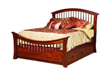 Load image into Gallery viewer, Amish USA Made Handcrafted Rainbow Platform Bed sold by Online Amish Furniture LLC