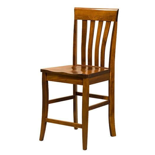 Amish USA Made Handcrafted Canterbury Bar Stool sold by Online Amish Furniture LLC