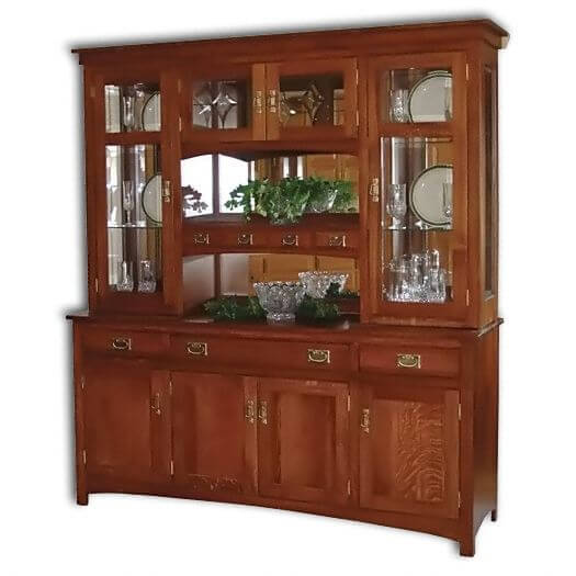 Amish USA Made Handcrafted Cape Cod Mission Hutch sold by Online Amish Furniture LLC