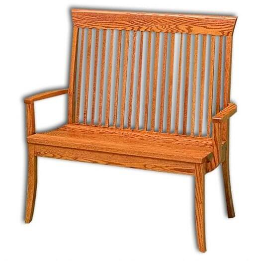 Amish USA Made Handcrafted Carlisle Bench sold by Online Amish Furniture LLC