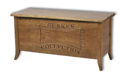 Amish USA Made Handcrafted Bunker Hill Blanket Chest sold by Online Amish Furniture LLC