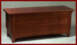 Amish USA Made Handcrafted Millcreek Mission Blanket Chest sold by Online Amish Furniture LLC