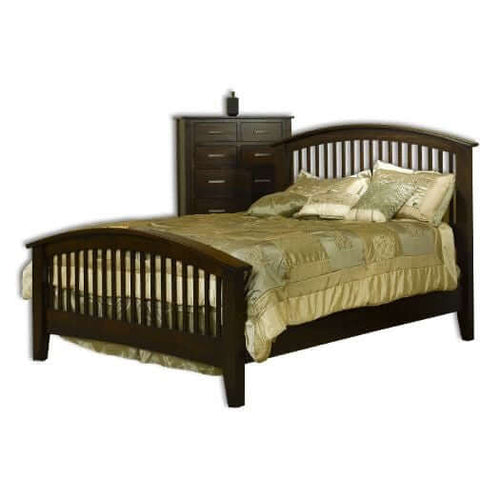 Amish USA Made Handcrafted Cambrai Mission Bed sold by Online Amish Furniture LLC