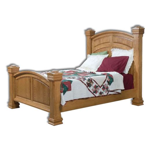 Amish USA Made Handcrafted Charleston Collection Bed sold by Online Amish Furniture LLC