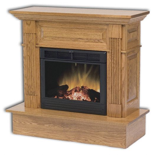 Amish USA Made Handcrafted Charleston Electric Fireplace sold by Online Amish Furniture LLC
