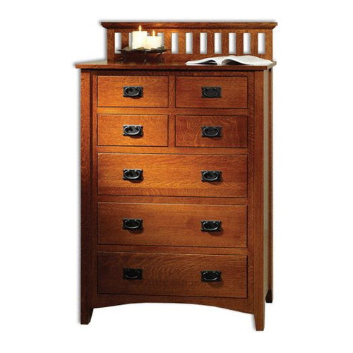 Amish USA Made Handcrafted Mission Antique Chest of Drawers sold by Online Amish Furniture LLC