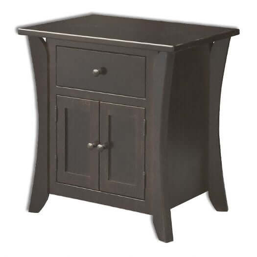 Amish USA Made Handcrafted Caledonia 1 Drawer 2 Door Nightstand sold by Online Amish Furniture LLC
