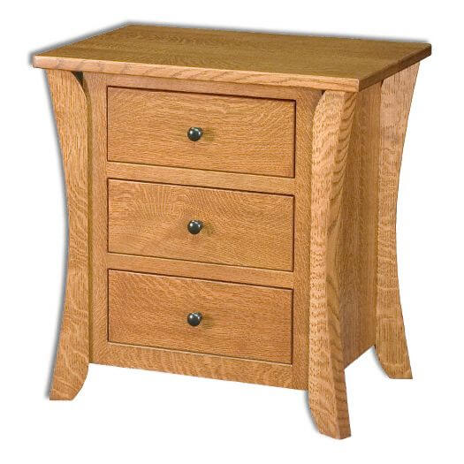 Amish USA Made Handcrafted Caledonia 3 Drawer Nightstand sold by Online Amish Furniture LLC