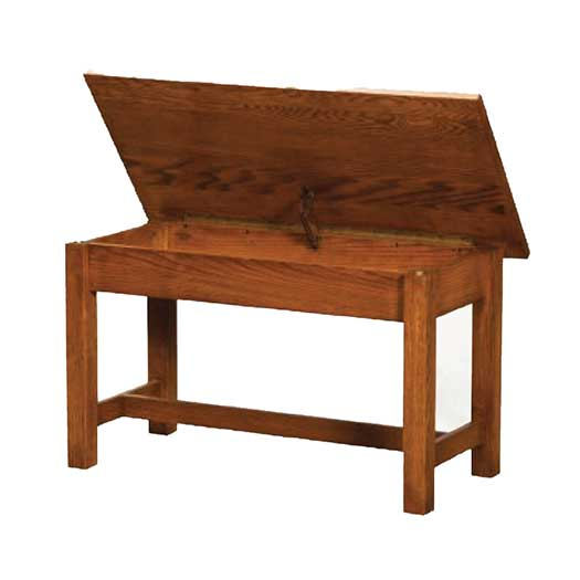 Amish USA Made Handcrafted Classic Misson Bedside Bench sold by Online Amish Furniture LLC
