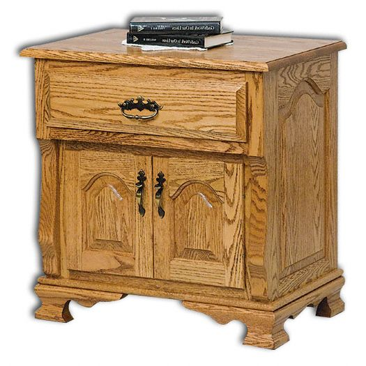 Amish USA Made Handcrafted Classic Heritage 2-Door, 1-Drawer Nightstand sold by Online Amish Furniture LLC