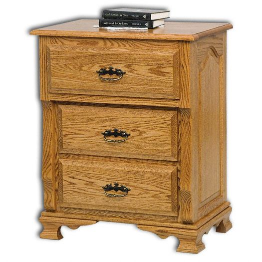 Amish USA Made Handcrafted Classic Heritage 3-Deep Drawer Nightstand sold by Online Amish Furniture LLC
